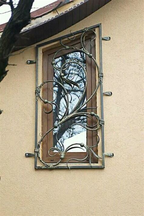 wrought iron window grill images  pinterest