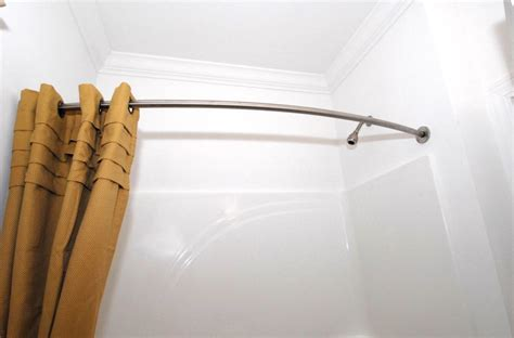 curved shower rods image of curved shower rods in brushed