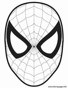 spider man face template cut out colouring page coloring With cut out character template