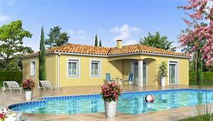 Maison Plain Pied En L : plan maison en l jacinthe maison plain pied ~ Melissatoandfro.com Idées de Décoration