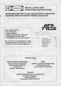 1983 Fleetwood Pace Arrow Owners Manuals  Dometic Refridgerator Rm