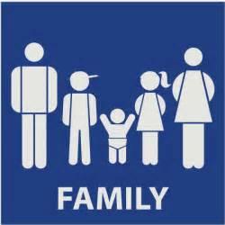 unisex bathroom ideas creative restroom signs with family figures