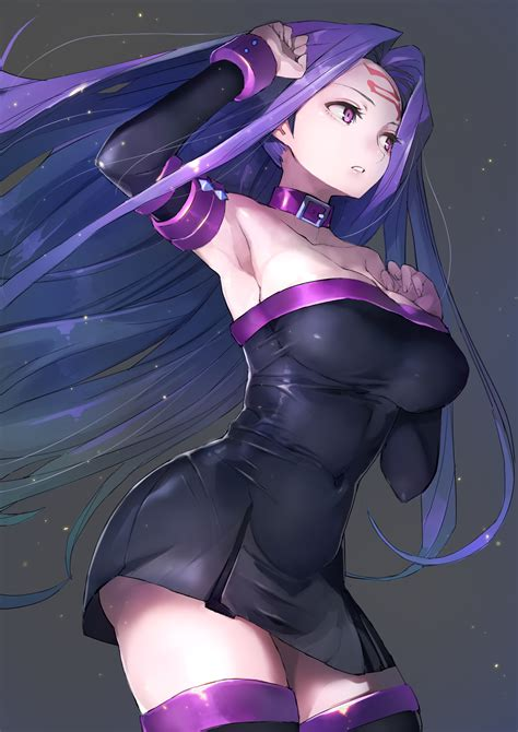 wallpaper cleavage dress fate stay night rider fate