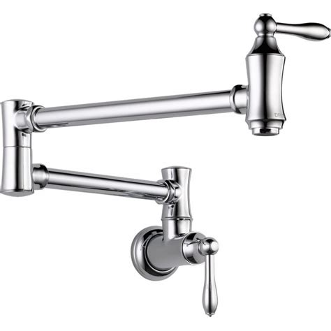 Delta Wall Mount Kitchen Faucet by Delta 1177lf Pot Filler Faucet Wall Mount Collections