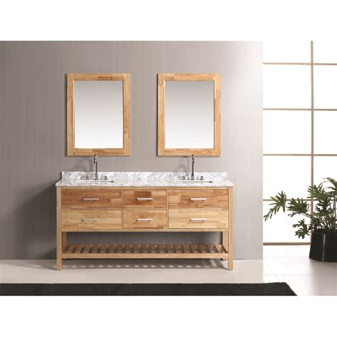 design element london 72 quot double bathroom vanity set with open bottom oak free shipping