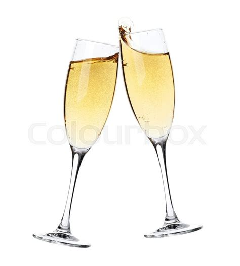 clipart brindisi cheers two chagne glasses isolated stock photo