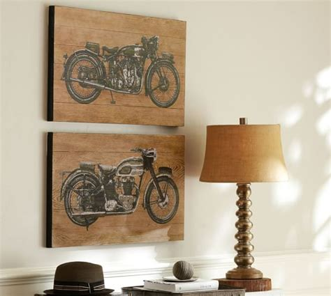 motorcycle prints set of 2 pottery barn