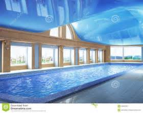 house plans with large windows pool inside the house royalty free stock photography