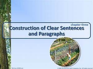 Ppt - Construction Of Clear Sentences And Paragraphs Powerpoint Presentation