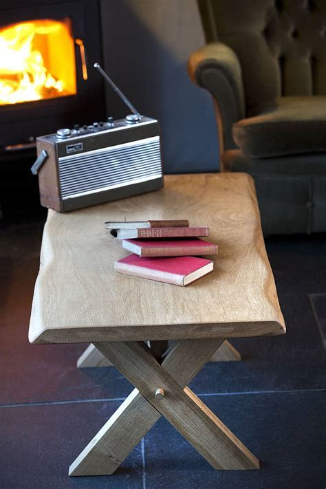 handmade oak coffee table by the old school carpentry