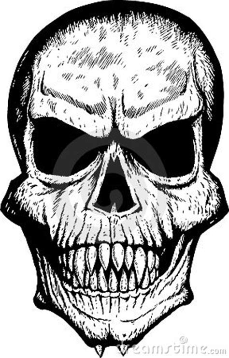 Scary Front Skull Stock Images - Image: 8195894
