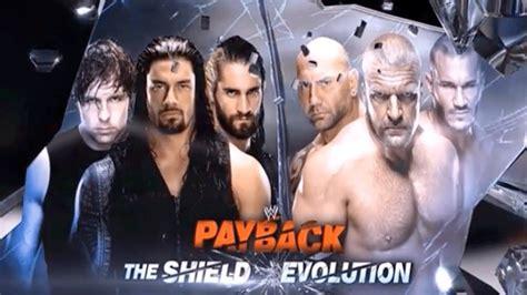 WWE Payback 2014 - The Shield vs Evolution - Full Match HD ...