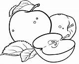Apple Coloring Pages Colouring Printable Kindergarten Creative Sheets Fruits Apples Fruit Bestappsforkids Prehistoric Animals Preschool Colorir Para Adults Books Educational sketch template