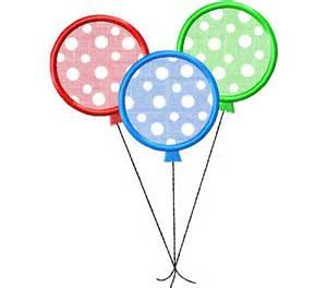 Three Balloons Applique Machine Embroidery Design