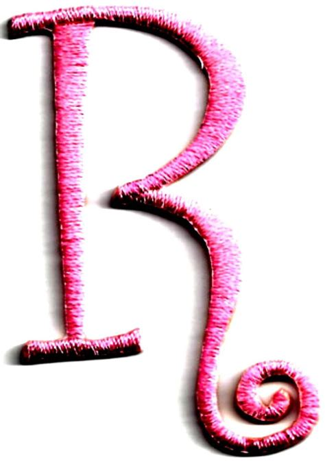inch 3 letter script embroidered monogrammed sew on iron 10 images about r for on count
