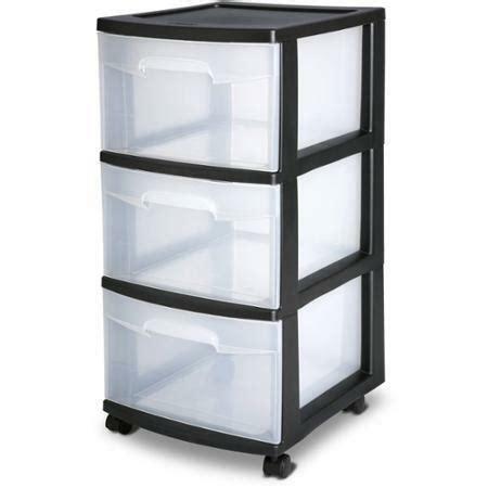 Plastic Drawers by Sterilite 3 Drawer Cart Storage Plastic Box Organizer