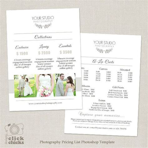 wedding photographer prices 17 best ideas about photography price list on canon photography photography and