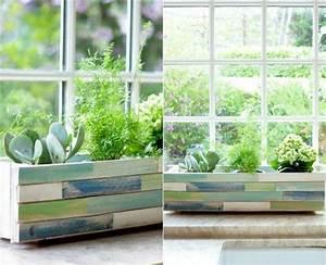 Jardiniere Interieur : jardini re en palette pour int rieur et pour ext rieur ~ Melissatoandfro.com Idées de Décoration