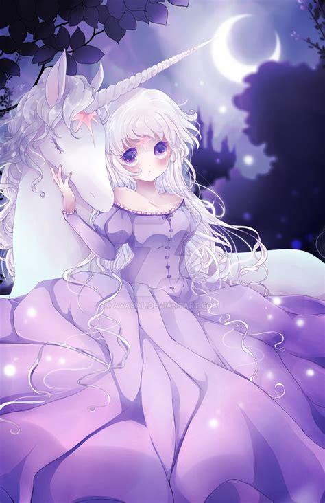 anime unicorn art the last unicorn w speed paint by ayasal on deviantart