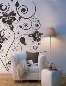 fantastic decorations with beautiful floral wall stencils With interior decoration wall stencils