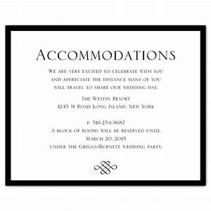 wedding invitation accommodation card wording With examples of wedding accommodation cards