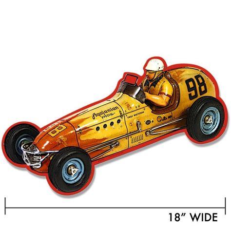 Retro-a-go-go! - Race Car Metal Sign, $24.99 (http://www.retroagogo.com/race-car-metal-sign ...
