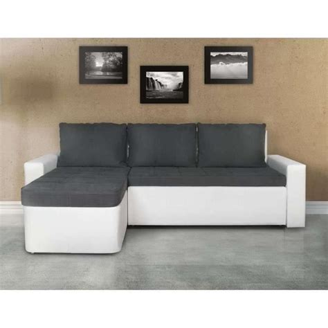 canap 233 d angle 3 places convertible gris