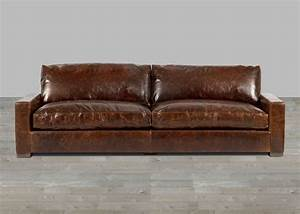 crackled brown top grain leather sofa With best leather sofa