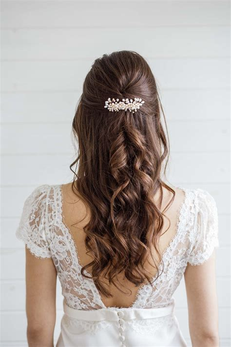 Alyssum Pearl Wedding Hair Comb Victoria Millesime