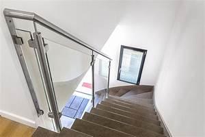 Garde De Corps Escalier : rampe rambarde escalier verre ~ Melissatoandfro.com Idées de Décoration