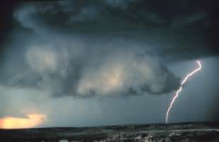 Wall Cloud with Lightning