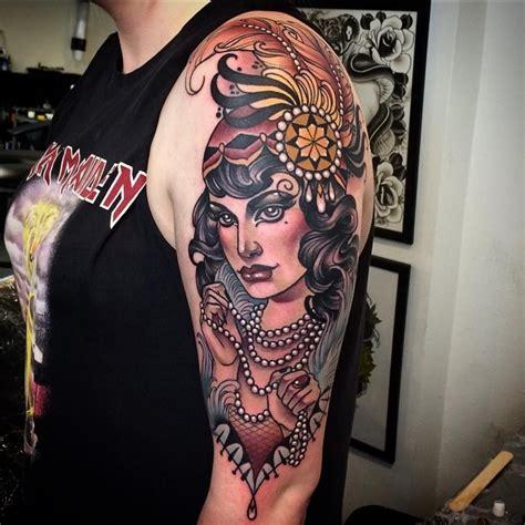 fancy lady tattoo  school tattoo pinterest ladies