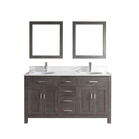 studio bathe vanity studio bathe kalize 63 in vanity in gray with