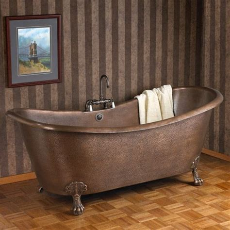 Can You Paint A Clawfoot Tub by Hammered Copper Slipper Bathtub On Claw