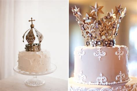 crown cake toppers  icing   cake onefabdaycom