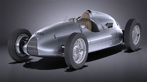Auto Union Type D 1938 Race Car