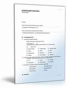 Kündigung Mietvertrag Bis Zum 3 Werktag : staffelmietvertrag wohnraum muster vorlage zum download ~ Lizthompson.info Haus und Dekorationen