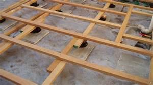realiser la pose d une terrasse en bois sur terre pictures With pose d une terrasse en bois sur terre