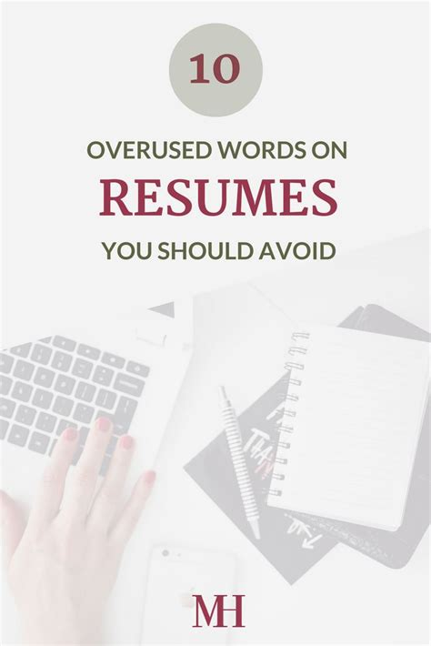career infographic overused words on a resume that you
