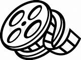 Theater Reel Film Cinema Vector Drawing Unspooling Clipart Clip Unsp Graphic Clipartmag Draw Production Drawings Canister Illustration Roll Getdrawings Icon sketch template