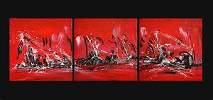 tableau rouge noir blanc en triptyque With couleur peinture pour salon moderne 14 tableau abstrait moderne rouge noir blanc