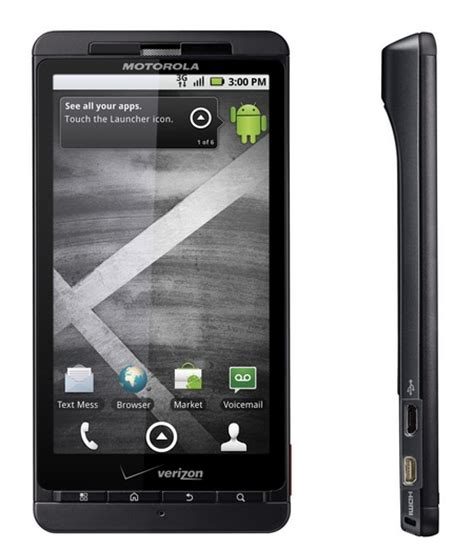 verizon android verizon motorola droid x android smartphone officially