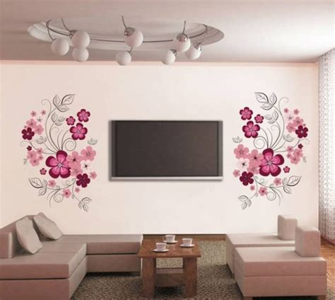 Stunning Living Room Wall Stickers by Ghar360 Home Design Ideas Photos And Floor Plans