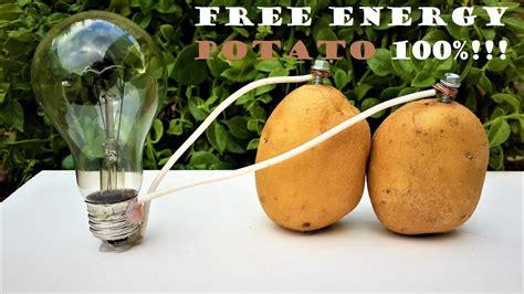 free energy light bulbs 220v using potato