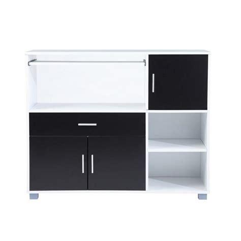 buffet de cuisine noir bari buffet de cuisine 110 cm blanc et noir achat