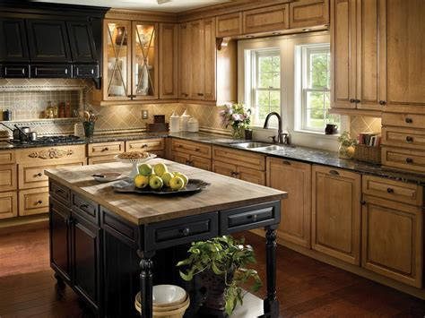 kitchen island country country kitchen with wood cabinets and kitchen island hgtv 1887