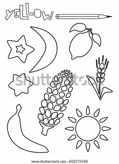 Yellow Coloring Single Worksheets Shutterstock Lemon Worksheet