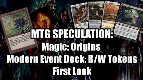 modern event deck is b w tokens and magic origins youtube