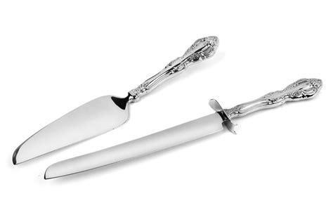 oneida michelangelo stainless steel cake server set  piece cutlery