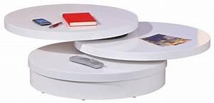 Table Basse Ronde Blanc Laqué : table basse ronde blanche pas cher table basse table pliante et table de cuisine ~ Teatrodelosmanantiales.com Idées de Décoration